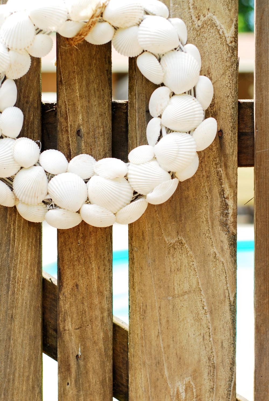 Grandma Susan made all our shells wreaths (all real shells)