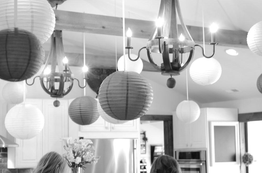 Details; paper lanterns