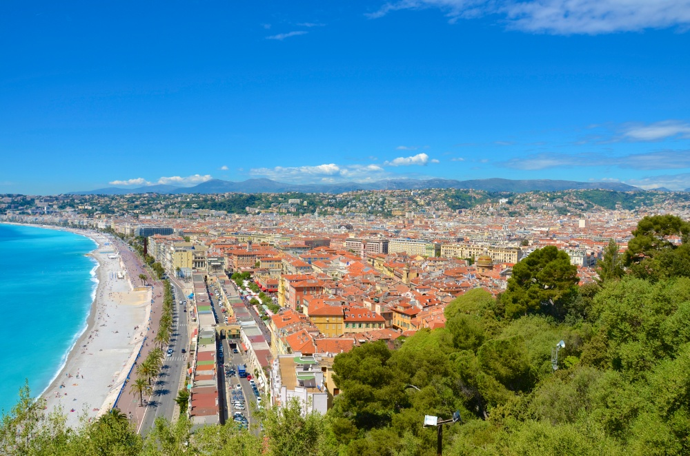 Looking over the Nice and the french riviera
